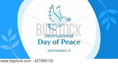 International Day Of Peace. Vector Web Banner, Illustration, Poster, Card For Social Media, Networks
