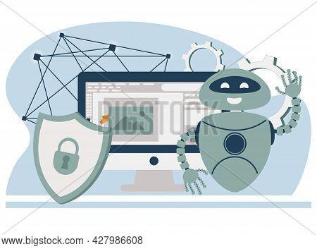 Antivirus Software Development. Malware, Computer Virus And Spyware, Industrial Cybersecurity, Cyber