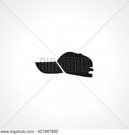 Baseball Cap Icon. Baseball Cap Simple Vector Icon. Baseball Cap Isolated Icon.