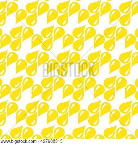 Yellow Lemon Drop Seamless Repeating Vector Pattern