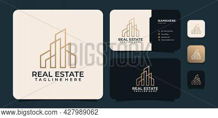 Creative Real Estate Construction Logo Design Vector Inspiration