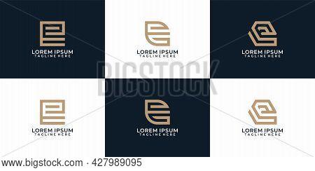 Creative Monogram Elegant Letter E Logo Design Collection. Logo Can Be Used For Icon, Brand, Identit