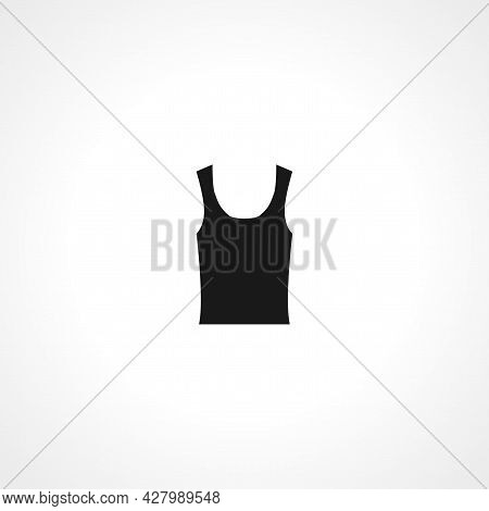 Undershirt Icon. Undershirt Simple Vector Icon. Undershirt Isolated Icon.
