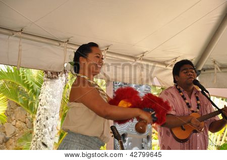 Performance at Polynesian Cultural Center in Oahu, Hawaii