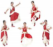 beautiful female traditional dancer from South India poster