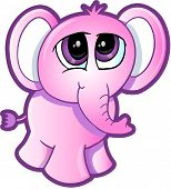 Shy Elephant Vector poster