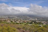 View of the island of Oahu in Hawaii poster