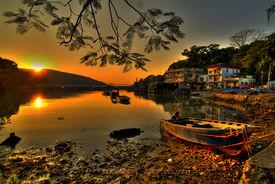 Sunset Fishing Village