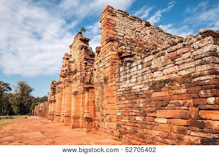 San Ignacio-Mini mission founded in 1632 by the Jesuits Misiones Province Argentina. poster