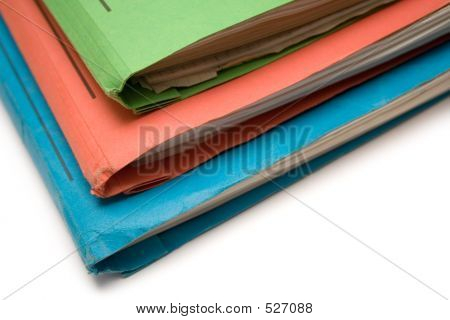 Colorful Binders (Top View Close)