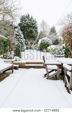 British Garden In Winter