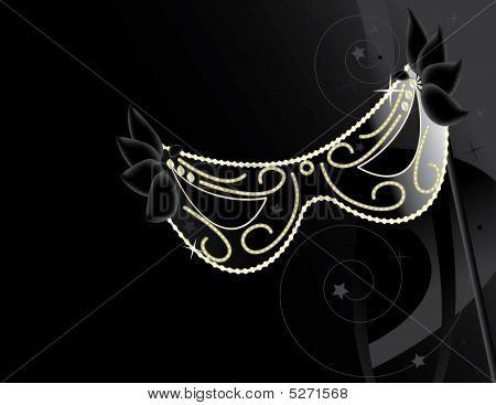 Black Mask Background
