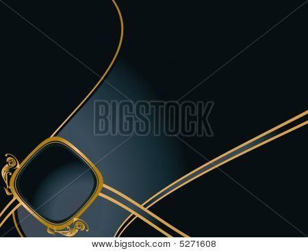 Blue Gold Elegant Background 4