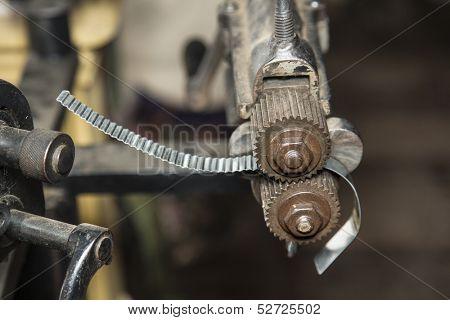 Vintage metal crimping tool