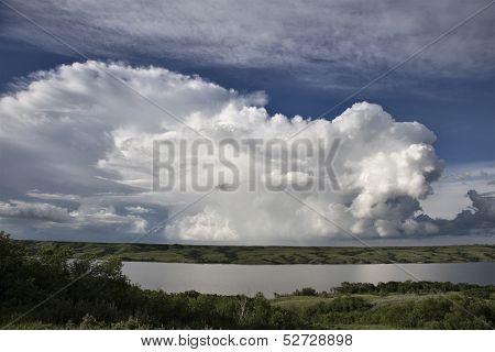 Prairie Storm Clouds ominous weather Saskatchewan Canada