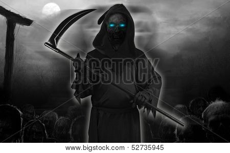 Halloween Black Devil Ghost isolated