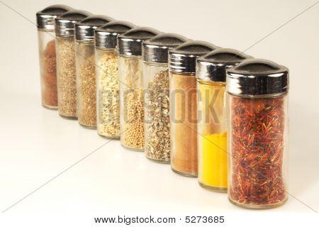 Various Spice Jars