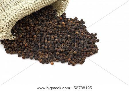 Black Pepper Isoalted On White Background