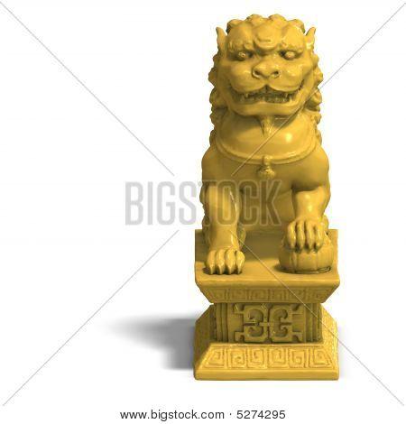 Golden Chinese Foo Dog