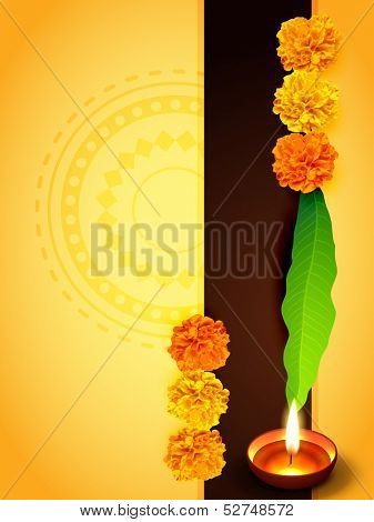 indian traditional style happpy diwali design