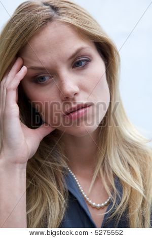 Unhappy Depressed Woman