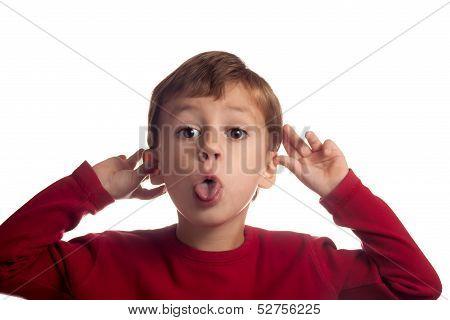 Little Boy Goofing Around