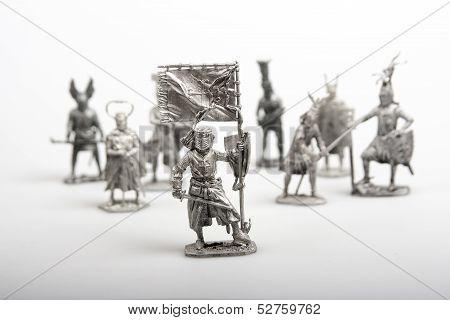 Group of toy soldiers