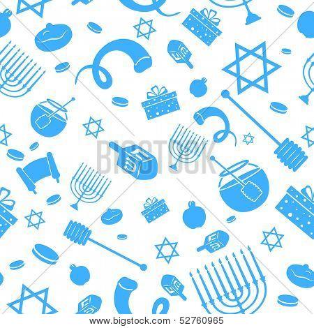 illustration of Seamless Israeli Holiday Pattern