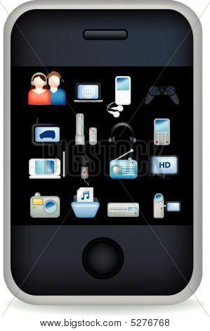 Phone Touchscreen Entertain