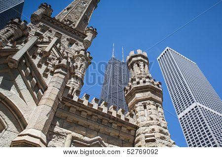 Chicago - June 7: John Hancock Center On June 7, 2013 In Chicago.chicago's Third-tallest Building Ha