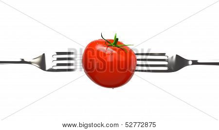Tomato and Two Forks