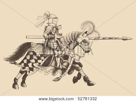 Horseback Knight of the tournament