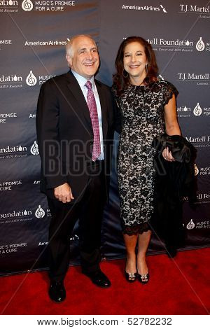 NEW YORK- OCT 22: Brandon Steiner and wife Mara  attend the T.J. Martell Foundation's 38th Annual Honors Gala at Cipriani's on October 22, 2013 in New York City.