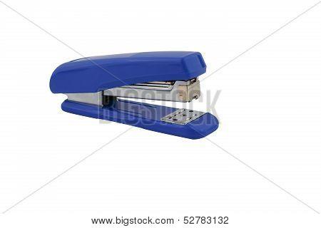 Blue Max Stapler Isolated On White Background
