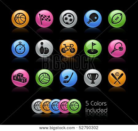 Sports Icon set / The file Includes 5 color versions in different layers.