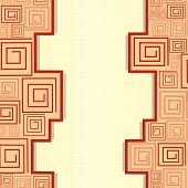 Geometrical pattern with brown spirals. Vector illustration poster