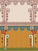 Aztec background, two variants vector illustration for web poster