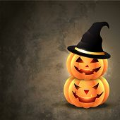 scary halloween pumpkin with space for your text poster