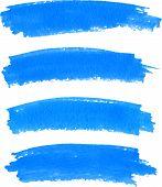 Vector spot of paint drawn by blue felt pen poster