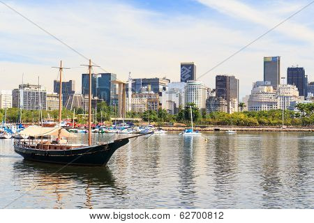 Boat trip from City center of Rio de Janeiro from Marina da Gl?ria Guanabara bay Brazil poster