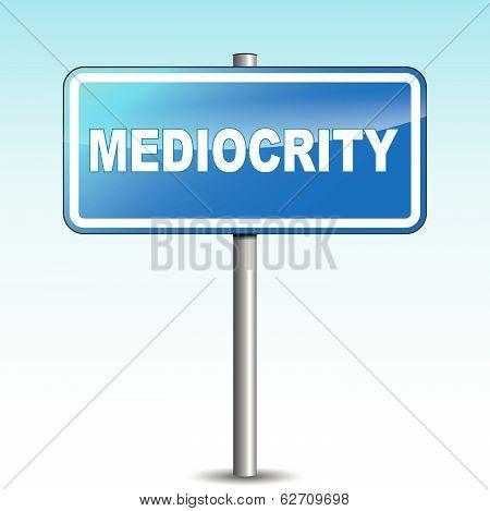 Vector Mediocrity Signpost