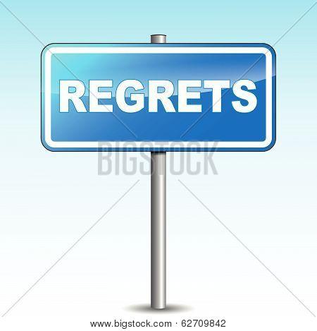 Vector Regrets Signpost
