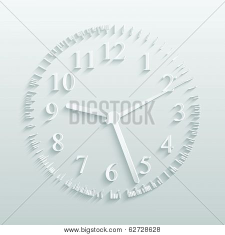 Paper Clock Illustration