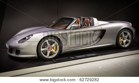 STUTTGART, GERMANY - CIRCA APRIL, 2014: Porsche Museum. PORSHE Carrera GT (2003)