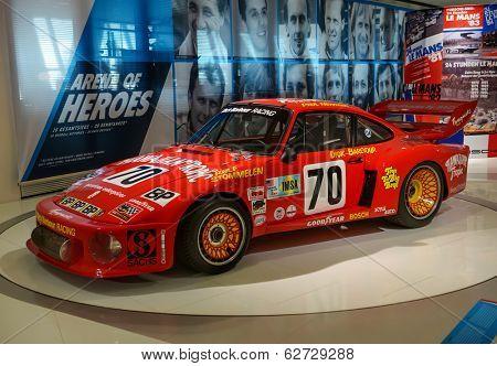 STUTTGART, GERMANY - CIRCA APRIL, 2014: Porsche Museum. PORSHE sportscar