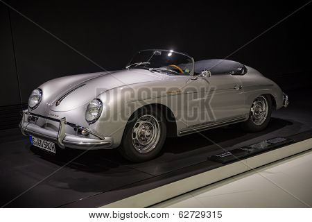 STUTTGART, GERMANY - CIRCA APRIL, 2014: Porsche Museum. PORSHE 356 Speedster (1955)