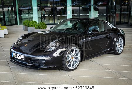 STUTTGART, GERMANY - CIRCA APRIL, 2014: Porsche Museum. PORSHE 911 Carrera 4