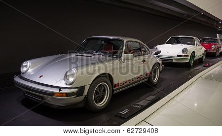 STUTTGART, GERMANY - CIRCA APRIL, 2014: Porsche Museum. PORSHE cars