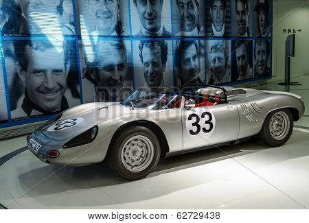 STUTTGART, GERMANY - CIRCA APRIL, 2014: Porsche Museum. PORSHE 718 W-RS Spyder (1962)