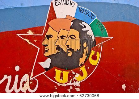 Graffiti and wall paintings in Havana